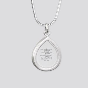 vodka humor Silver Teardrop Necklace