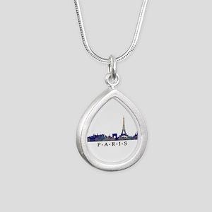 Mosaic Skyline of Paris France Necklaces