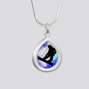 Snowboarder in Whiteout Necklaces