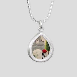 Je T'aime Paris Silver Teardrop Necklace