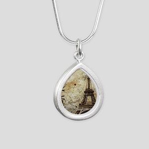 Paris Silver Teardrop Necklace