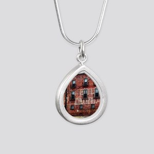 Coca-Cola Ghost Sign Silver Teardrop Necklace
