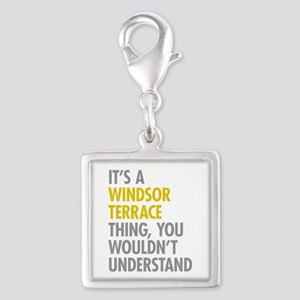 Windsor Terrace Thing Silver Square Charm