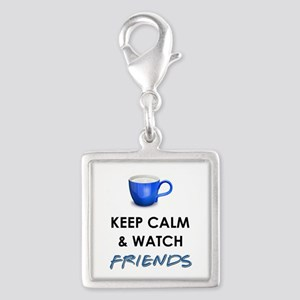 WATCH FRIENDS Silver Square Charm