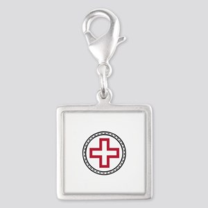 Circled Red Cross Charms