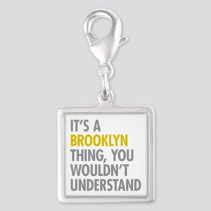Brooklyn Thing Silver Square Charm