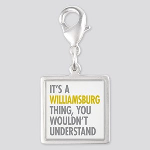 Williamsburg Thing Silver Square Charm