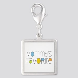 Mommy's Favorite Silver Square Charm