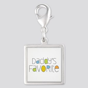 Daddy's Favorite Silver Square Charm