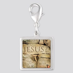 Names of Jesus Christ Silver Square Charm