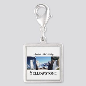 Yellowstone Silver Square Charm