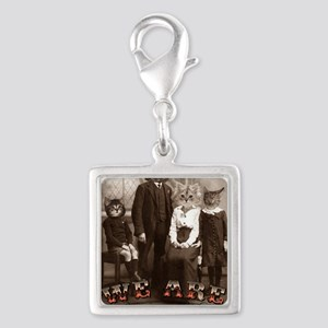 CAT_PEOPLE Silver Square Charm