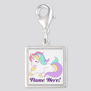 Personalized Custom Name Unicorn Girls Charms