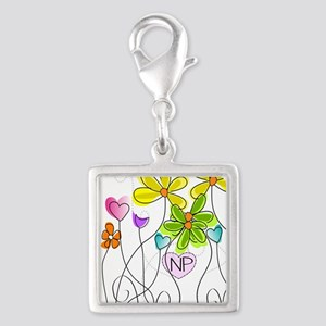 Nurse Practitioner Silver Square Charm