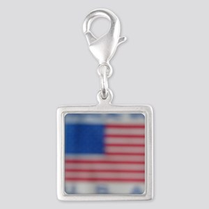 MADE IN U.S.A. Silver Square Charm