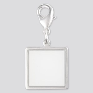 Winter night in the Mountains Silver Square Charm