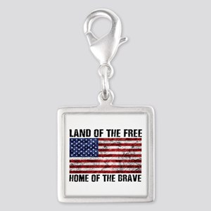 Land Of The Free,Home Of The Brave Charms