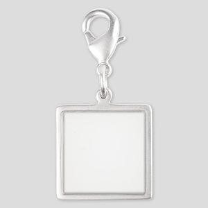 101st Airborne stencil Silver Square Charm