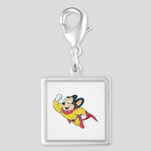 Vintage Mighty Mouse Silver Square Charm