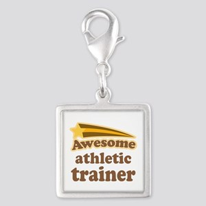 Awesome Athletic Trainer Silver Square Charm