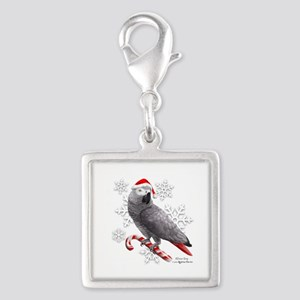 Christmas African Grey Parrot Charms