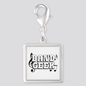 Band Geek Silver Square Charm