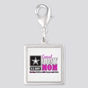 Proud Army Mom Pink Charms