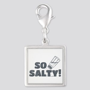 So Salty Silver Square Charm