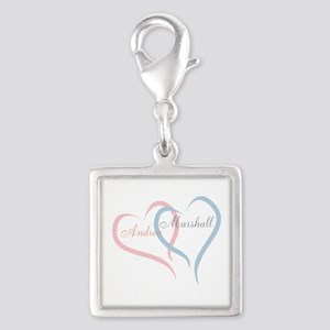 Twin Hearts to Personalize Charms
