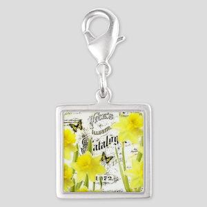 Vintage daffodils Charms