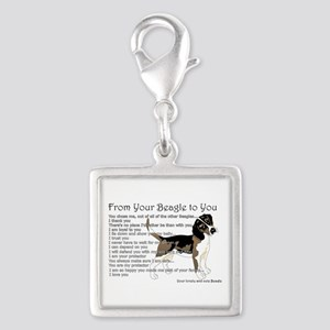 A Beagle's letter to you Charms