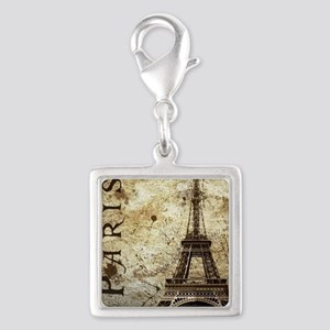 Paris Silver Square Charm