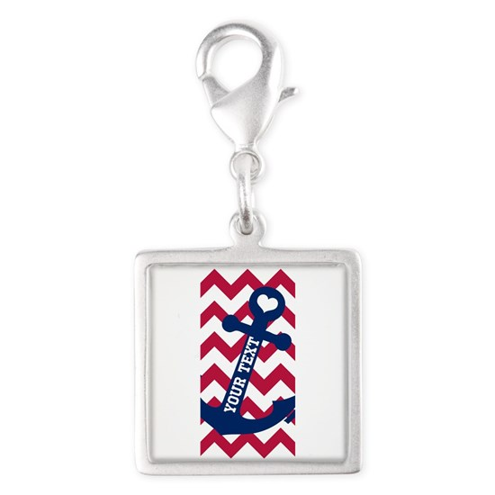 Personalized Nautical Chevron Anchor