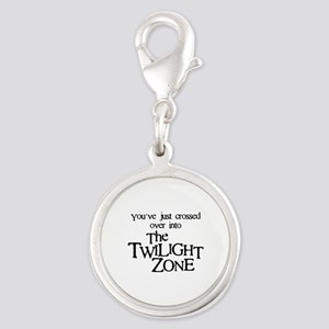 Into The Twilight Zone Silver Round Charm