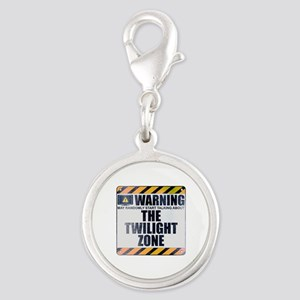 Warning: The Twilight Zone Silver Round Charm