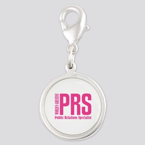 Public Relations Specialist Silver Round Charm