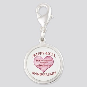 40th. Anniversary Charms
