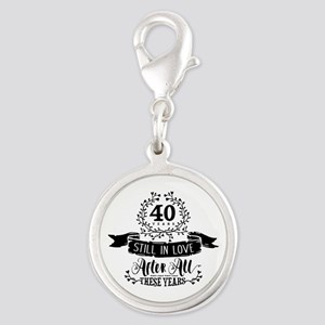 40th Anniversary Silver Round Charm