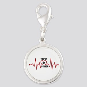 Grey's Anatomy My Person Silver Round Charm