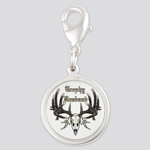 Trophy husband Silver Round Charm