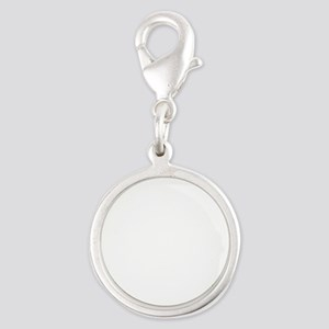 Donners Diner Dude Silver Round Charm