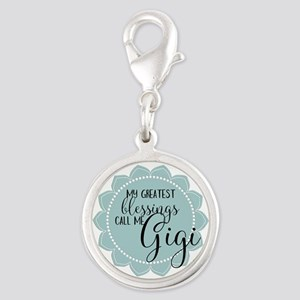 Gigi's Greatest Blessings Silver Round Charm