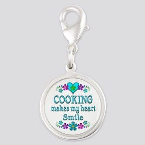 Cooking Smiles Silver Round Charm