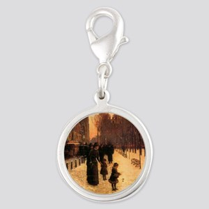 Childe Hassam Boston In Everyd Silver Round Charm
