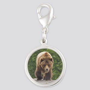 tile-grizzly-1 Silver Round Charm