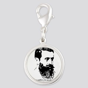 Theodor Herzl - Israel Quote Charms