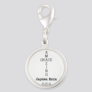 Amazing Grace Cross Custom Personalized Charms
