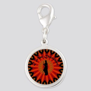 Cherokee Silver Round Charm