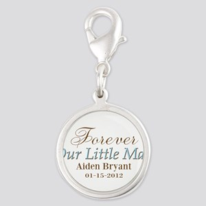 Blue Brown Personalizable Little Man Charms