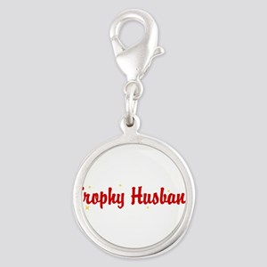 trophy-husband Silver Round Charm